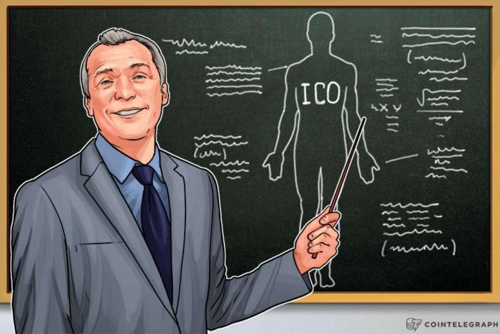 Человек, объясняющий ICO