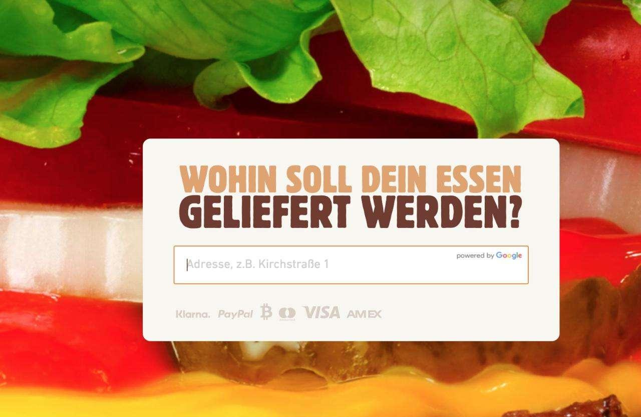 Варианты оплаты на домашней странице Bklieferservice.de